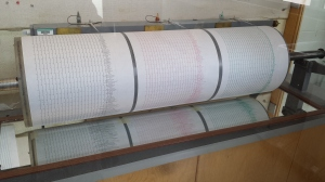 Our seismograph shows the quake quite clearly.