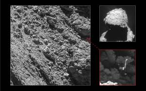 Philae and its shadow. Credit: ESA