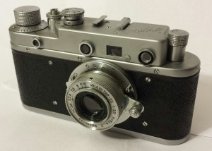 The Zorki C, a coupled rangefinder camera made from 1955-1958.