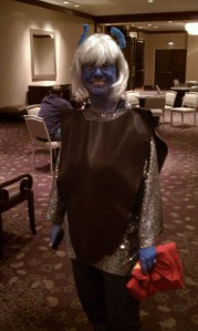 My Andorian costume. Photo by Dave Lovelace.