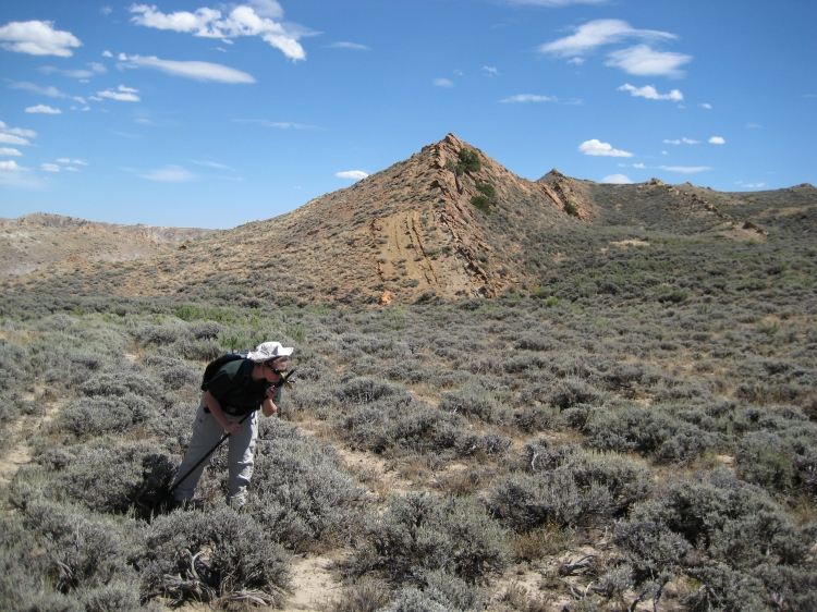 Measuring section in Wyoming.