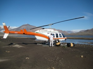 A bit lower down, the pilot needed to refeuel the helicopter.