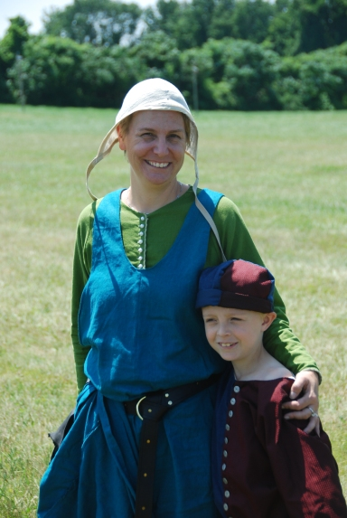 My son and I at the Renaissance faire.