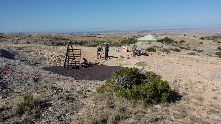 Making sure everything is ready for the first scientists to descend.
