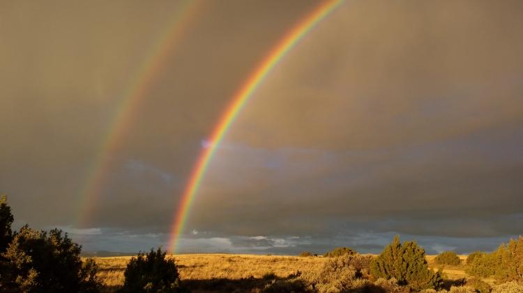 A spectacular double rainbow.