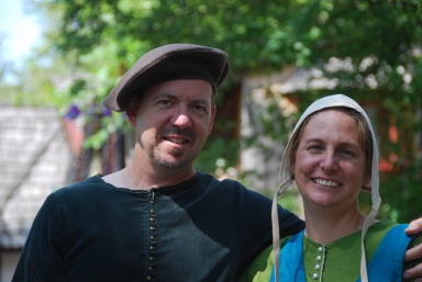 My husband and I at the Renaissance faire. (Photo taken by our son.)