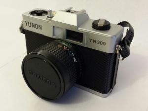 The Yunon YN 300, an early 1980's give-away camera.