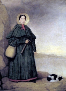 Mary Anning and her dog, Tray. Credited to 'Mr. Grey' in Crispin Tickell's book 'Mary Anning of Lyme Regis' (1996)