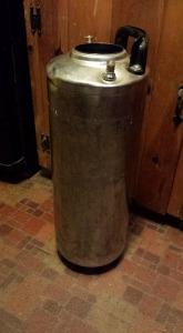 A five gallon 'corny' keg.