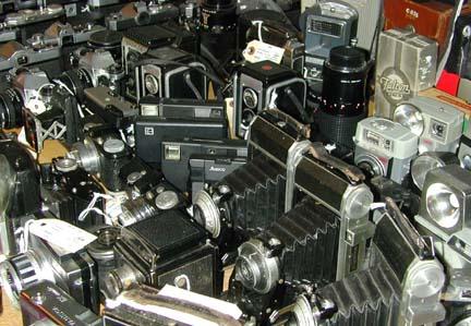 A few cameras