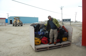 Getting the luggage to the twin otter.