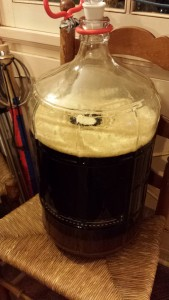 Right after pitching the yeast.
