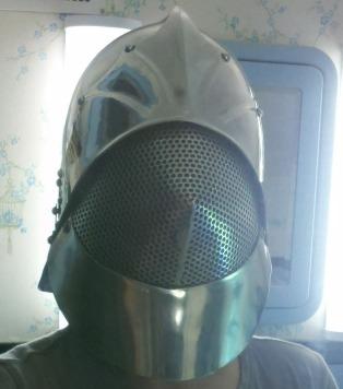That's me in my helmet. I'm doing duck lips, I swear!