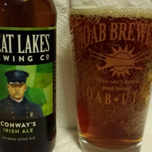 Conway's Irish Ale, by Great Lakes Brewing.
