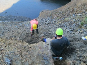 Here's a quarry that requires sledgehammers and chisels to collect rocks (in this case, rocks loaded with fossils).