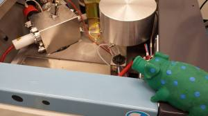 Lord Hogsworth approves of the recent repairs to the mass spectrometer.