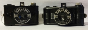 Two Falcon Minicam Juniors with different body styles - c1938.