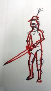 My quick sketch of Schrankhut