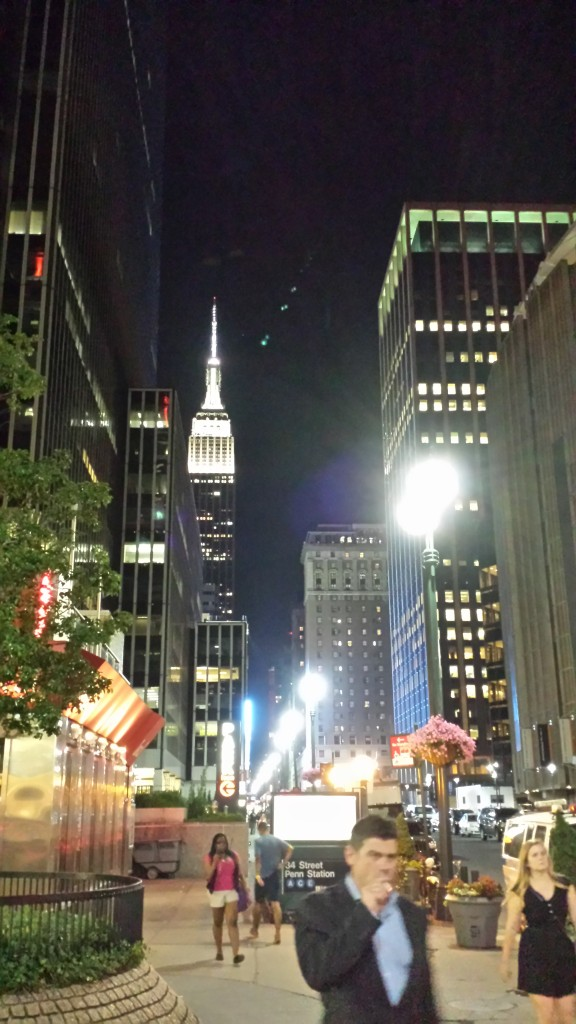 Leaving Penn Station. And OMG! It's the Empire State Building!