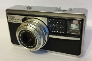 Most Instamatics were rather cheaply made in the USA, but the Instamatic 500 was made in Germany with high-quality glass.
