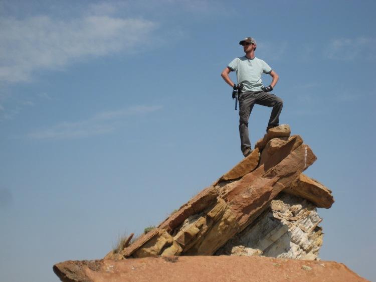Pathfinder surveys the landscape victoriously