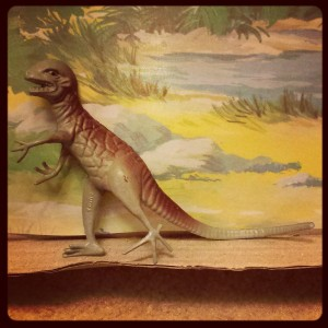 Wait. Does this dinosaur have ears? What is this?