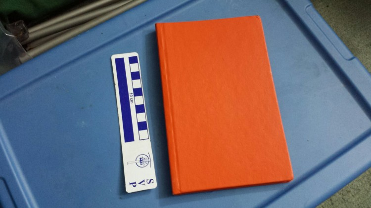 One of the many notebooks I have. And a scale... For scale.