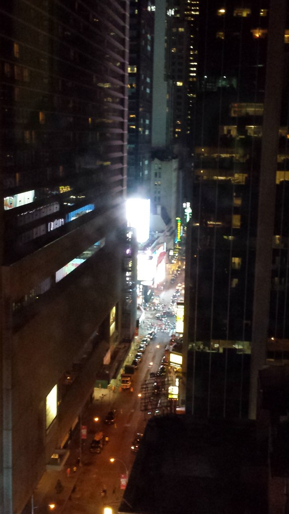 Times Square (and the venue for the Devo concert) are RIGHT THERE!