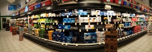 Beer at Tops. The display is a little fancier with neon lights.