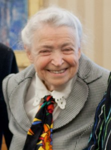 Mildred Dresselhaus in the Oval Office, May 7, 2012. (Official White House Photo by Pete Souza)