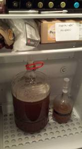 The day I started the Pilsner. Since it ferments at low temperatures, it's still going.