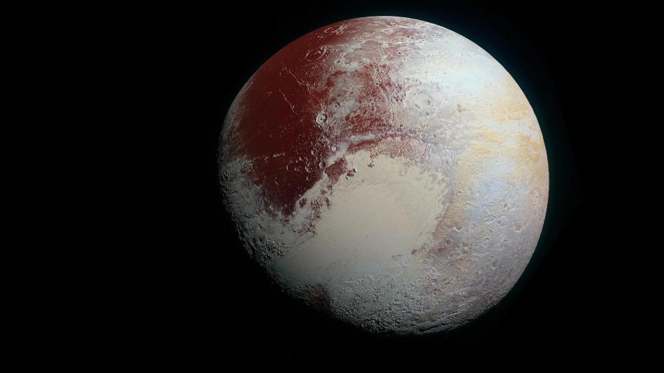 Photograph of Pluto from NASA's New Horizons probe