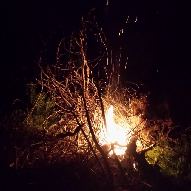 The fire started quickly, and was little at first.