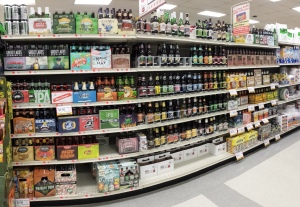 Breen's unrefrigerated 'craft' section.