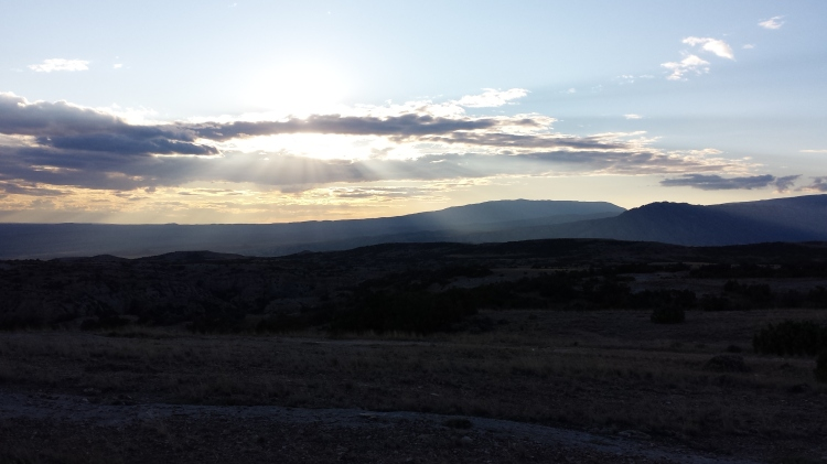 Another sunset over Natural Trap Cave.